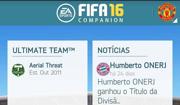Acesse o companion do Fifa 16 (Foto: Reprodução/Murilo Molina)