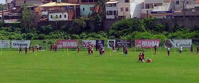 Bahia; FAzendão; treino físico (Foto: Ruan Melo)