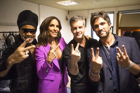 Carlinhos Brown, Ivete Sangalo e Victor & Leo (Foto: RENATO ROCHA MIRANDA/TV GLOBO)
