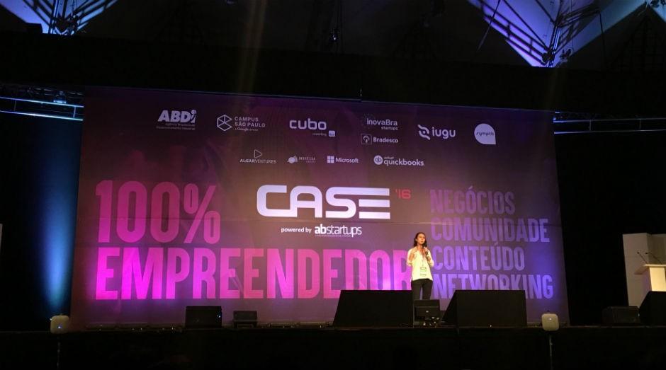Gabriela Rojas, gerente de produto do Nubank, durante o CASE 2016. (Foto: Priscila Zuini/PEGN)
