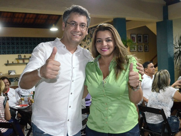 Clécio Luís (Rede) e a vice Telma Nery (DEM), candidatos em Macapá (Foto: Abinoan Santiago/G1)