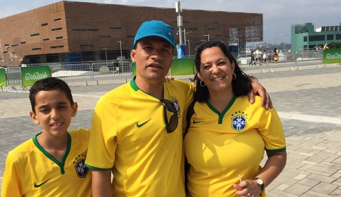 João e família no Parque Olímico (Foto: Márcio Mará)