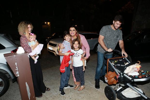Preta Gil com a Família no Arraiá do Huck (Foto: Dilson Silva/ Ag. News)
