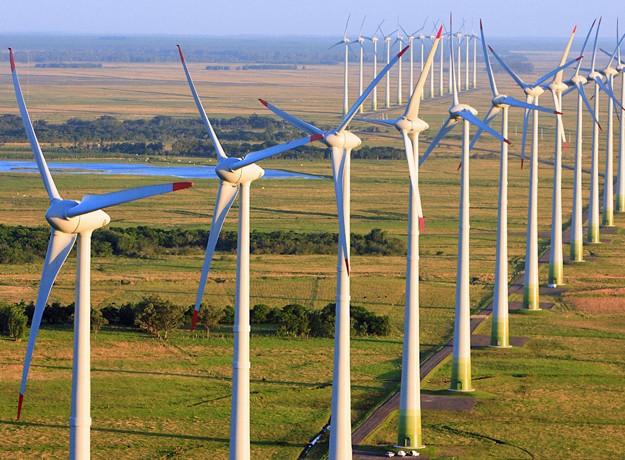 Usinas eólicas instaladas no Rio Grande do Sul (Foto: Divulgação/ABEEólica)