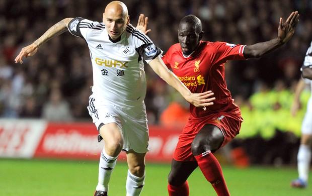 Shelvey Swansea e Liverpool (Foto: Agência Reuters)