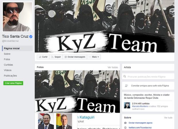 Tico Santa Cruz é alvo de hacker (Foto: Reprodução / Facebook)