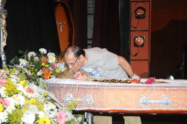 Velório Elke Maravilha - Isabelita dos Patins (Foto: Fábio Moreno/ Ag. News)