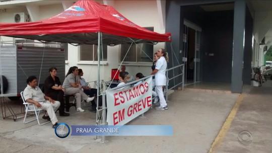 Funcionários de hospital de Praia Grande entram em greve