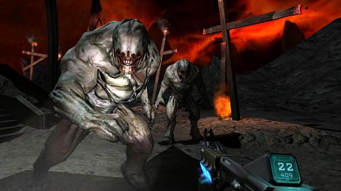 Doom 3: BFG Edition trouxe consertos, melhorias e muitos extras em um pacote bem completo (Foto: Reprodução/YouTube)