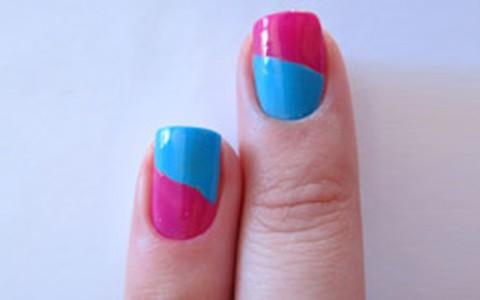 Nail art bicolor: passo-a-passo