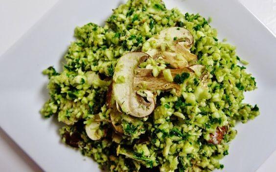 Arroz verde com cogumelos (Foto: Reprodução)
