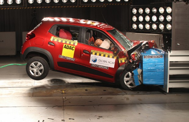 Renault Kwid indiano é reprovado em crash test (Foto: Divulgação)