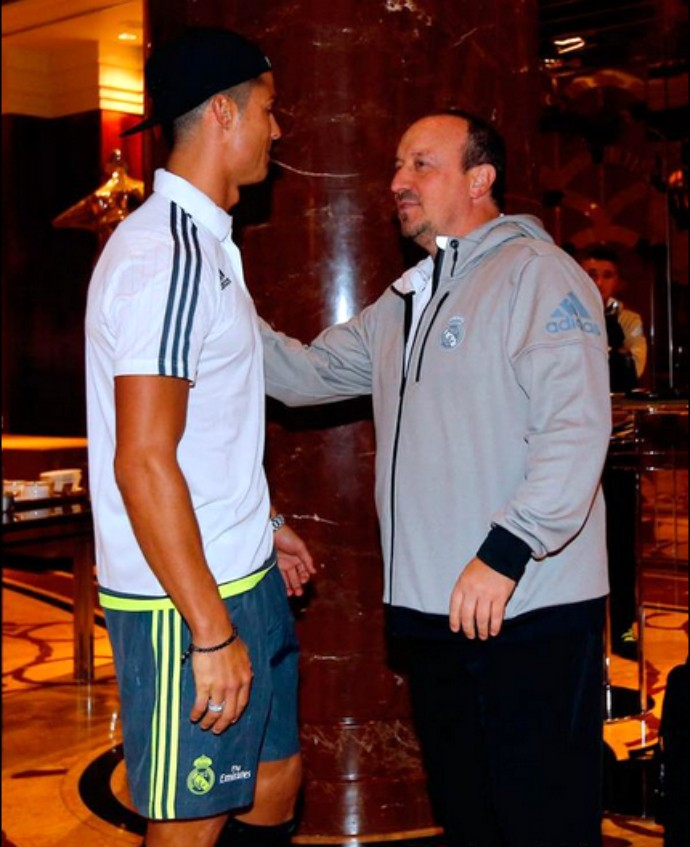 Cristiano Ronaldo Rafa Benítez Real Madrid (Foto: Reprodução / Site Oficial)
