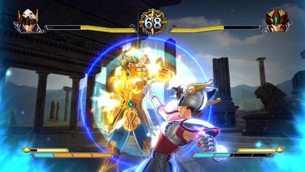 Jogo de luta 'Os Cavaleiros do Zodíaco: Bravos Soldados' tem visual próximo do desenho animado (Foto: Divulgação/Namco Bandai)