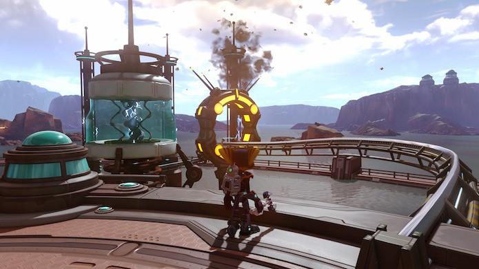 Ratchet & Clank no PS4 Pro usa bem o recurso HDR (Foto: Reprodução/Victor Teixeira)