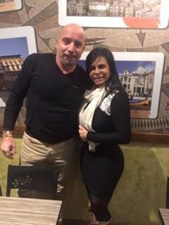 Carlos Marques e Gretchen (Foto: Arquivo pessoal)