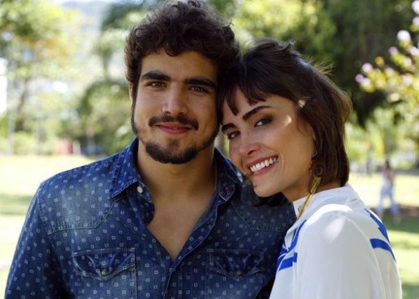 Maria e Caio em foto para a trama das nove (Foto: TV Globo/Estevam Avellar)