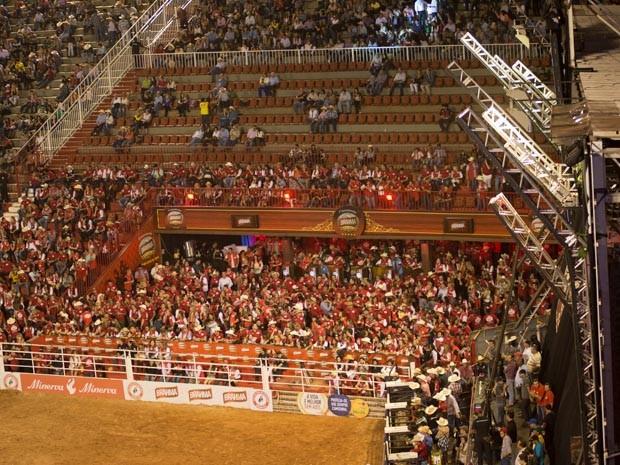 Em local privilegiado, camarote fica a menos de 5 metros do palco e da arena (Foto: Érico Andrade/G1)