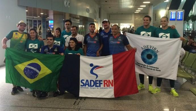 Sadef aeroporto chegada Rio 2016 (Foto: Luiz Henrique/GloboEsporte.com)