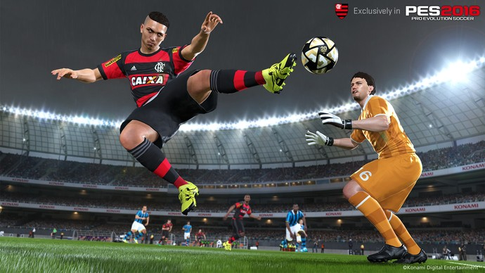 Guerrero é o flamenguista que mais aparece na divulgação do jogo (Foto: Divulgação)