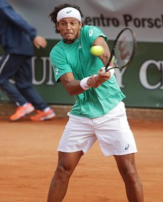 Feijão tênis Challenger de Cortina Itália (Foto: Carola Carera/GAME)