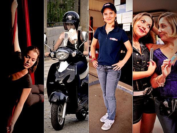 Atrizes se especializaram nas profissões e hobbies de suas personagens (Foto: Avenida Brasil / TV Globo)