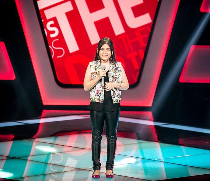 Marina Silveira sobe ao palco do The Voice Kids em terceira tarde de Audições (Foto: Isabella Pinheiro/Gshow)