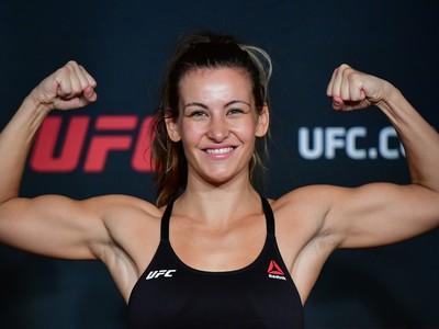 Miesha Tate tomada oficial de peso UFC 205 (Foto: Jason Silva)