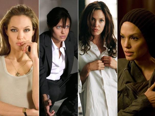 Angelina Jolie mudou bastante o visual para estrelar 'O Procurado', 'Roubando Vidas', 'Sr. & Sra. Smith' e 'Salt' (Foto: Divulgação / Reprodução)