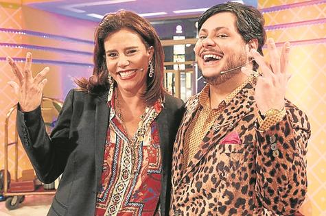 Marcus Majella gravou com Narcisa Tamborindeguy (Foto: Juliana Coutinho)