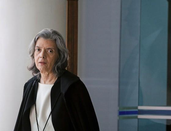 A presidente do Supremo,ministra Cármen Lúcia.Ela pediu que um juiz auxiliar de Teori permaneça no tribunal  para fazer a passagem da Lava Jato (Foto:  Sérgio Lima/ÉPOCA)