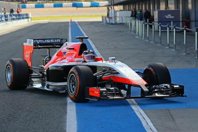 Marussia, enfim, apresenta o novo MR03 (Foto: Divulgação)