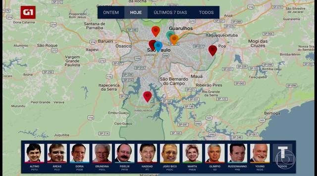 Acompanhe os compromissos dos candidatos à prefeitura da capital
