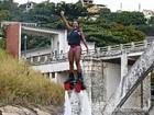 Luana voa sobre as águas; Conheça  novo esporte! (Caldeirão do Huck/TV Globo)