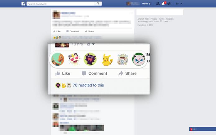 Reaction Packs muda a aparência das reações em posts da rede social (Foto: Divulgação)
