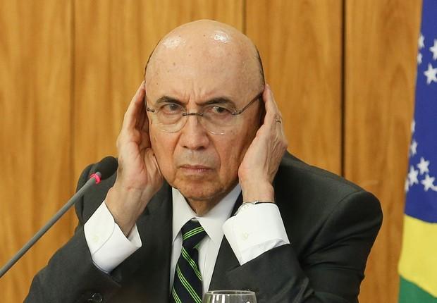O ministro da Fazenda, Henrique Meirelles , durante coletiva de jornalistas (Foto: Lula Marques/Agência PT)