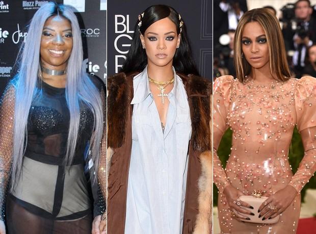 Ludmilla, Rihanna e Beyoncé (Foto: Reprodução)