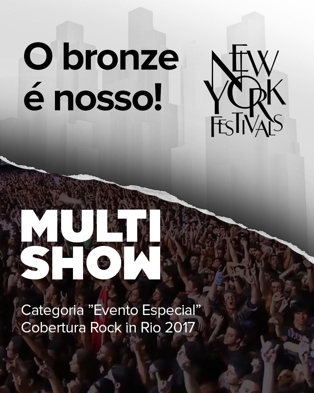 O Multishow foi o vencedor na categoria 'Eventos Especiais' com a cobertura do Rock in Rio 2017 (Foto: Divulgao)