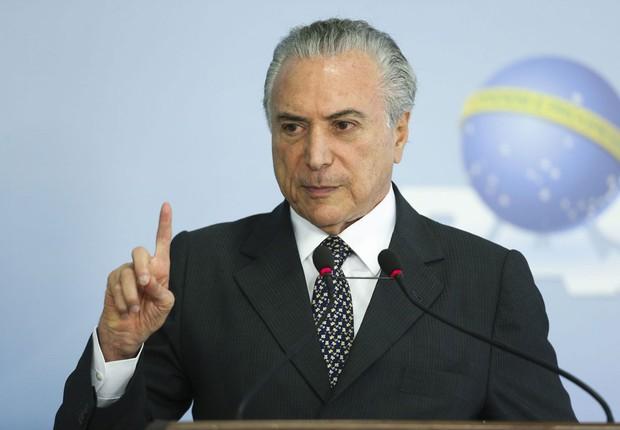 O presidente Michel Temer faz balanço de seu governo em 2016 (Foto: Valter Campanato/Agência Brasil)