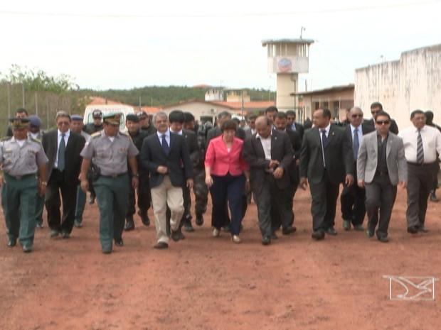CDH do Senado visita Complexo Penitenciário de Pedrinhas (Foto: Reprodução/TV Mirante)