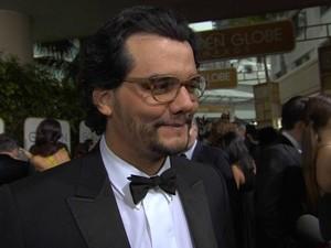 Wagner Moura na cerimônia do Globo de Ouro (Foto: TV Globo)