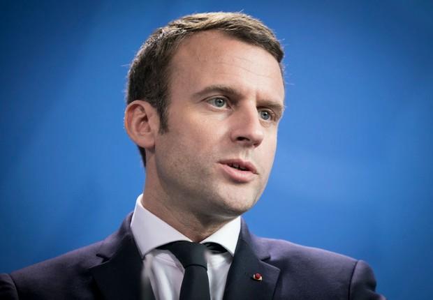 O presidente francês Emmanuel Macron visita a Alemanha (Foto: Axel Schmidt/Getty Images)