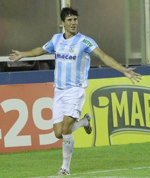 Gol de Giancarlo, macaé x cabofriense (Foto: Tiago Ferreira / Macaé Esporte)