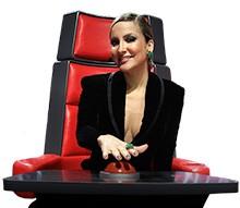 Claudia Leitte cadeira (Foto: Edição The Voice)