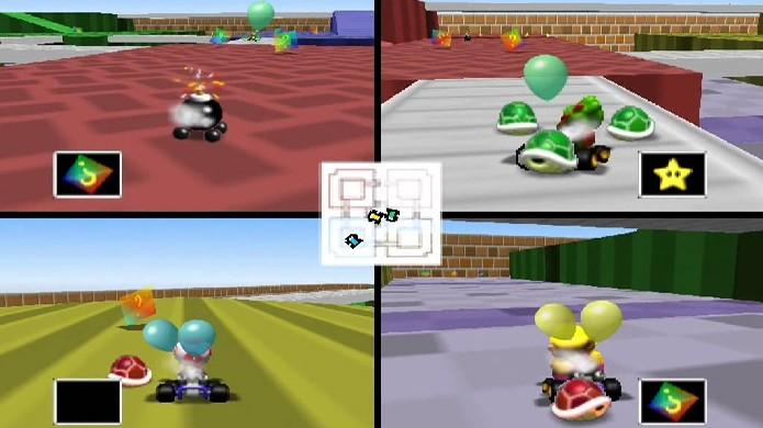 Com apenas quatro controles e uma partida no mapa Block Fort jogadores de Mario Kart 64 garantiam seus finais de semana de locação (Foto: Reprodução/YouTube)