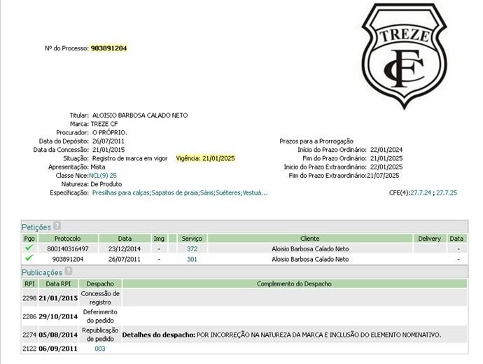 patente, treze (Foto: Reprodução / INPI)