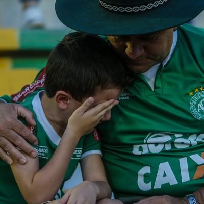 Torcida Chapecoense Arena Condá (Foto: GABRIELA BILó/ESTADÃO CONTEÚDO)