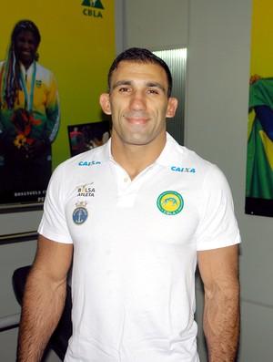 Adrian Jaoude luta olímpica (Foto: Thiago Benevenutte)
