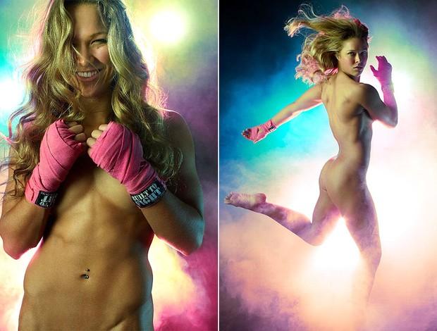 Montagem Ronda Rousey, MMA (Foto: Editoria de arte / Globoesporte.com)