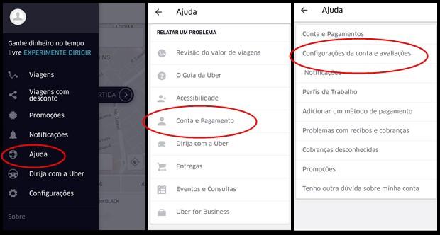 Descubra sua avaliação no Uber (Foto: Reprodução)